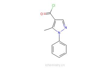 CAS:205113-77-5_5-甲基-1-苯基-吡唑-4-羰酰氯的分子结构