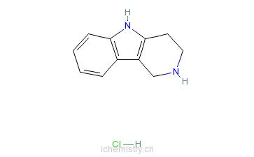 CAS:20522-30-9_2,3,4,5-四氢-1H-吡啶并[4,3-b]吲哚盐酸盐的分子结构