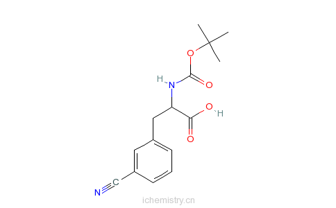 CAS:205445-56-3_Boc-D-3-氰基苯丙氨酸的分子结构