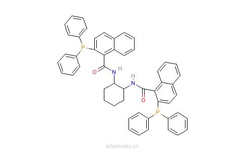 CAS:205495-66-5_(1S,2S)-(-)-1,2-二氨基环己烷-N,N-双(2-二苯基膦基聚-1-萘酰基)的分子结构