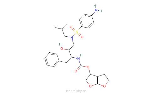 CAS:206361-99-1_地瑞那韦的分子结构