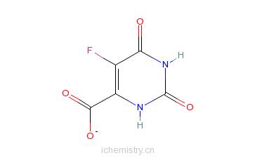 CAS:207291-81-4_5-FLUOROOROTIC ACID HYDRATE的分子结构