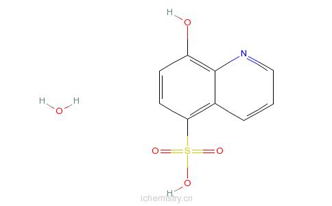 CAS:207386-92-3_8-羟基-5-喹啉磺酸水合物的分子结构