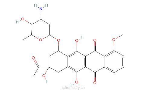CAS:20830-81-3_柔红霉素的分子结构