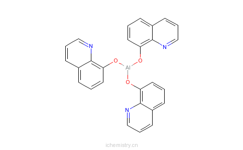 CAS:2085-33-8_8-羟基喹啉铝的分子结构