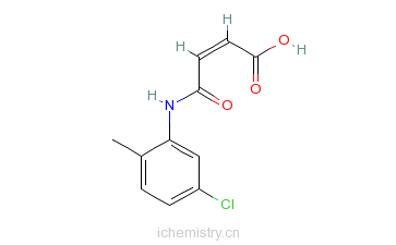 CAS:208663-08-5_N-(5-氯-2-甲苯基)马来酸的分子结构