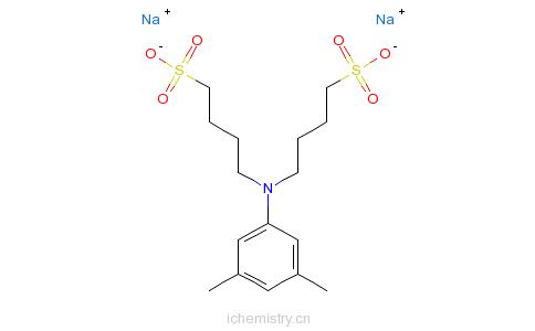 CAS:209518-16-1_N,N-二(4-磺丁基)-3,5-二甲基苯胺钠盐的分子结构