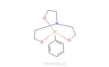 CAS:2097-19-0_1-苯基-2,8,9-三氧杂-5-氮杂-1-硅杂二环[3.3.3]十一烷的分子结构