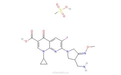 CAS:210353-53-0_甲磺酸吉米沙星的分子结构