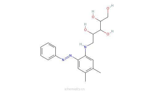 CAS:21037-26-3_1-(D-核糖氨基)-3,4-二甲基苯基-6-偶氮苯的分子结构