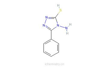 CAS:21089-45-2_4-氨基-5-苯基-4H-三唑硫醇的分子结构