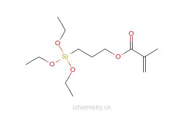 CAS:21142-29-0_甲基丙烯酰氧基丙基三乙氧基硅烷的分子结构
