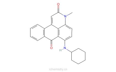 CAS:21295-57-8_溶剂红149的分子结构