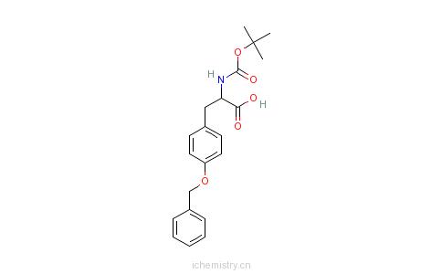 CAS:2130-96-3_Boc-O-苄基-L-酪氨酸的分子结构