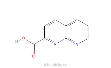 CAS:215523-34-5_1,8-萘啶-2-甲酸的分子结构