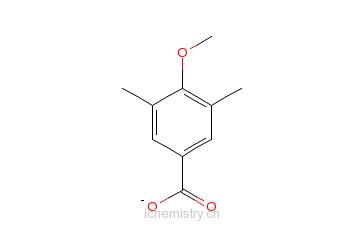 CAS:21553-46-8_3,5-二甲基-4-甲氧基苯甲酸的分子结构