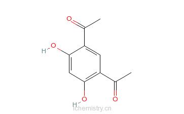 CAS:2161-85-5_1,1-(4,6-二羟基-1,3-次苯基)二乙酮的分子结构