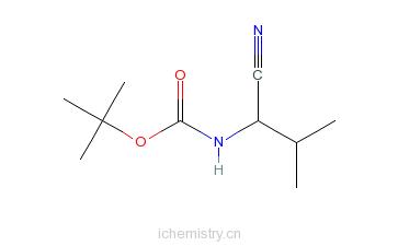 CAS:216319-90-3_N-[(1S)-1-氰基-2-甲基丙基]-氨基甲酸叔丁酯的分子结构