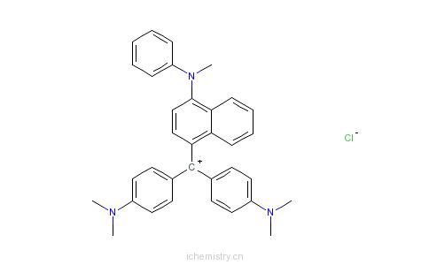 CAS:2185-87-7_[4-(对二甲胺苯基)-4-甲苯胺苯基-1-亚甲基]环己二烯-2,5-炔-1-二甲胺盐酸盐的分子结构