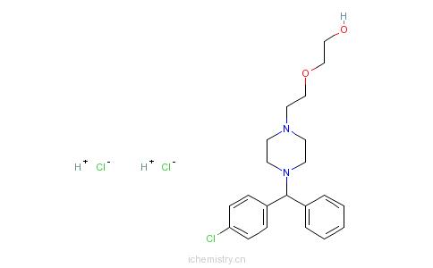 CAS:2192-20-3_盐酸羟嗪的分子结构