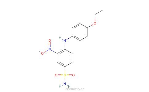 CAS:22025-44-1_4-[(4-乙氧基苯基)氨基]-3-硝基苯磺酰胺的分子结构