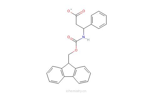 CAS:220498-02-2_Fmoc-(R)-3-氨基-3-苯基丙酸的分子结构