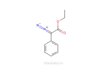 CAS:22065-57-2_2-重氮基-2-苯基乙酸乙酯的分子结构