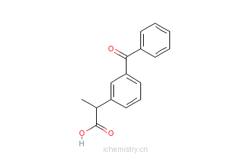 CAS:22071-15-4_酮基布洛芬的分子结构