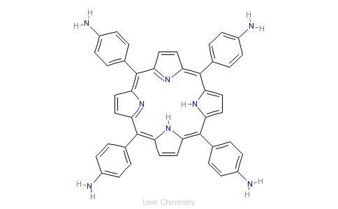 CAS:22112-84-1_5,10,15,20-四(4-氨基苯)-21H,23H-卟啉的分子结构