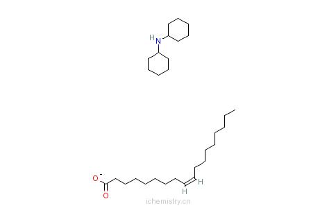 CAS:22256-71-9_(9Z)-9-十八烯酸与N-环己基环己胺的化合物的分子结构