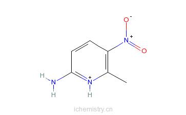 CAS:22280-62-2_2-氨基-5-硝基-6-甲基吡啶的分子结构