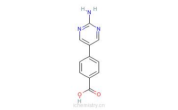 CAS:222987-21-5_4-(2-氨基嘧啶-5-基)苯甲酸的分子结构