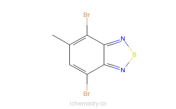 CAS:2255-79-0_4,7-二溴-5-甲基苯[1,2,5]噻唑的分子结构