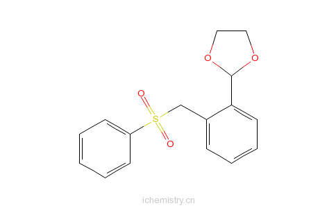 CAS:226089-80-1_2-[2-(苯磺酰甲基)苯基]-1,3-二氧戊环的分子结构