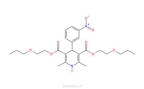 CAS:22609-73-0_尼鲁地平的分子结构