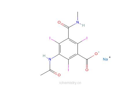 CAS:2276-90-6_碘他拉酸的分子结构