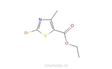 CAS:22900-83-0_2-溴-4-甲基-1,3-噻唑-5-甲酸乙酯的分子结构