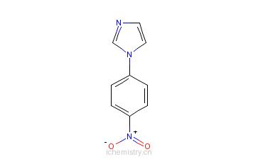 CAS:2301-25-9_1-(4-硝基苯)-1H-咪唑的分子结构