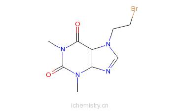 CAS:23146-05-6_7-(2-溴乙基)茶碱的分子结构