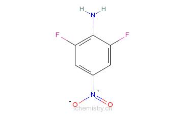 CAS:23156-27-6_2,6-二氟-4-硝基苯胺的分子结构