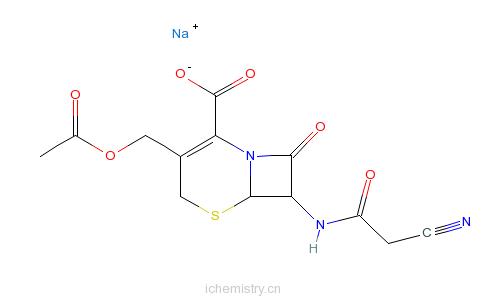 CAS:23239-41-0_头孢乙腈钠的分子结构