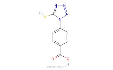 CAS:23249-95-8_4-(5-巯基四唑-1-基)苯甲酸的分子结构