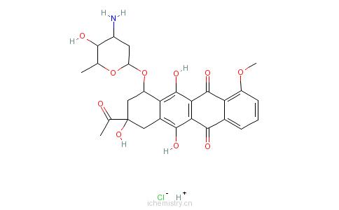 CAS:23541-50-6_盐酸佐柔比星的分子结构