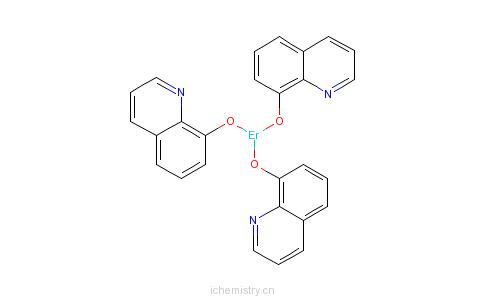 CAS:23606-16-8_三(8-羟基喹啉)-铒的分子结构