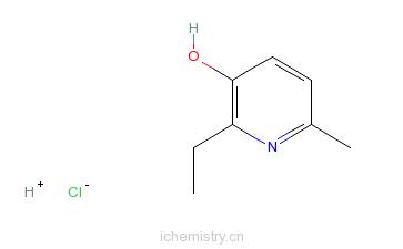 CAS:2364-75-2_2-乙基-6-甲基-3-羟基吡啶的分子结构