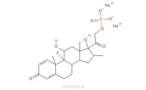 CAS:2392-39-4_地塞米松磷酸钠的分子结构