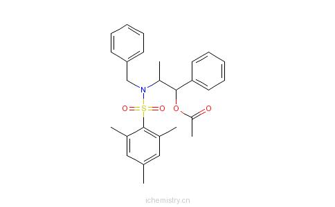 CAS:240423-74-9_乙酸-(1R,2S)-2-[N-苄基-N-(三甲苯基磺酰)氨基]-1-苯基丙酯[交叉醇醛反应用试剂]的分子结构