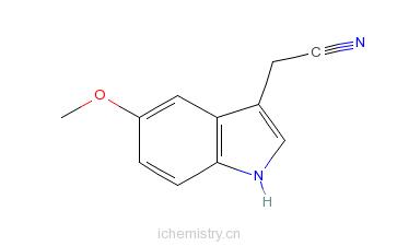 CAS:2436-17-1_5-甲氧基吲哚-3-乙腈的分子结构