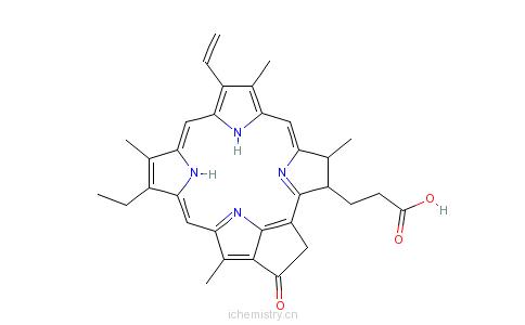CAS:24533-72-0_焦脱镁叶绿酸a的分子结构