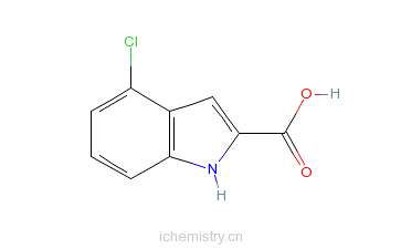 CAS:24621-73-6_4-氯吲哚-2-甲酸的分子结构